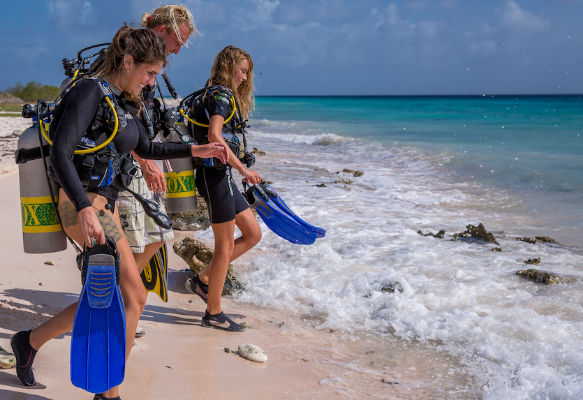 BonairePros shore diving Bonaire
