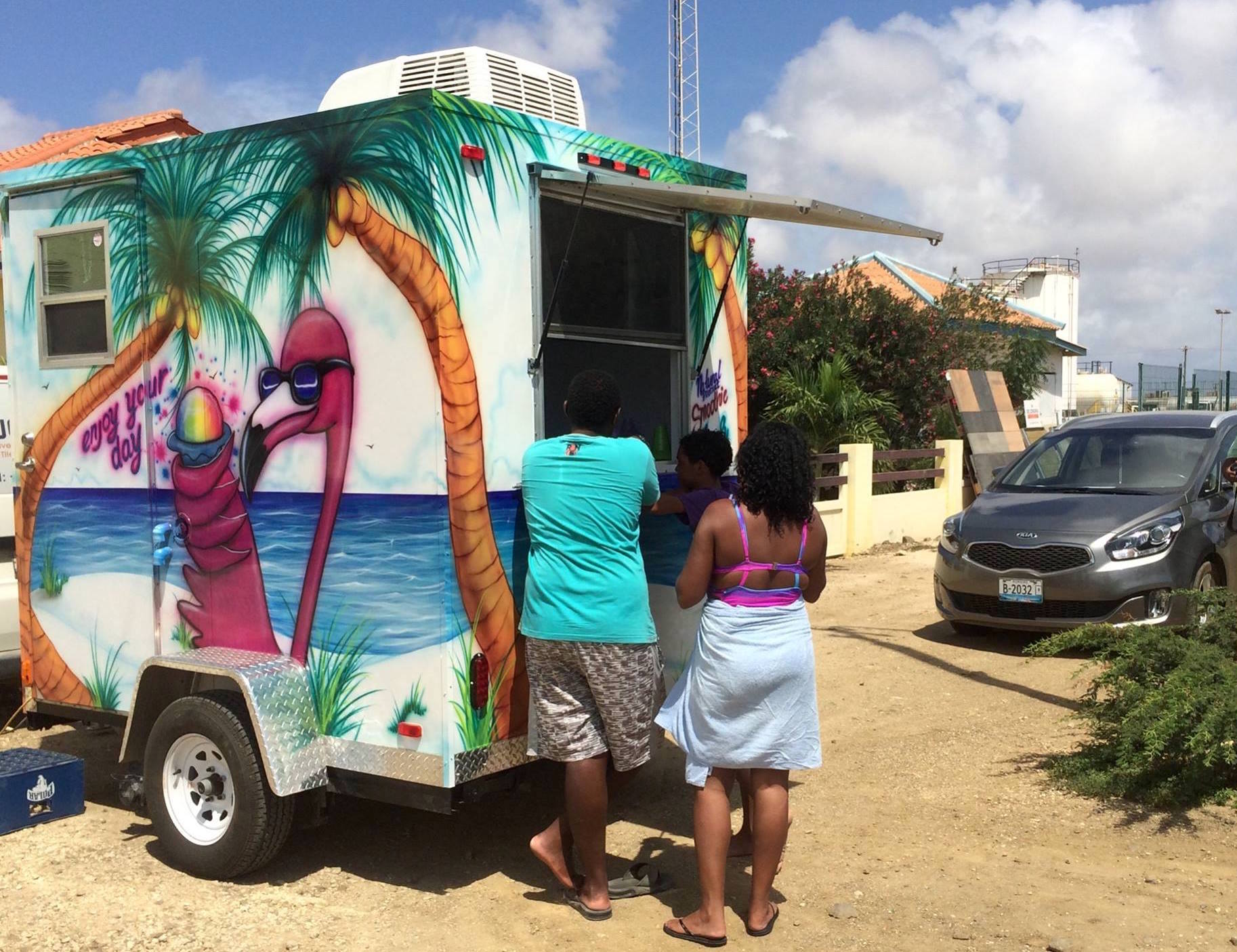 Food Truck Bonaire Lennys shave ice